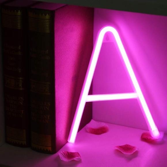 Wall Art Light Up Letters Neon Signs Pink Az Poshmark
